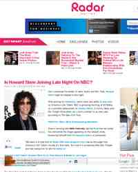 Is Howard Stern Joining Late Night On NBC: Radar Online