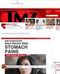 Kim Kardashian Sees Doctor After Stomach Pains: TMZ.com