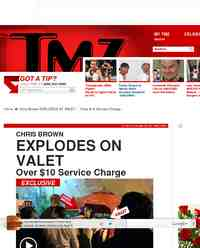 Chris Brown EXPLODES AT VALET Over: TMZ.com