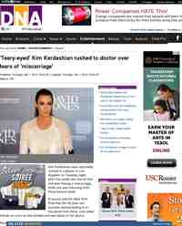 Teary eyed Kim Kardashian rushed to doctor over: DNA