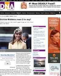 Did Kate Middleton mean for dog: DNA